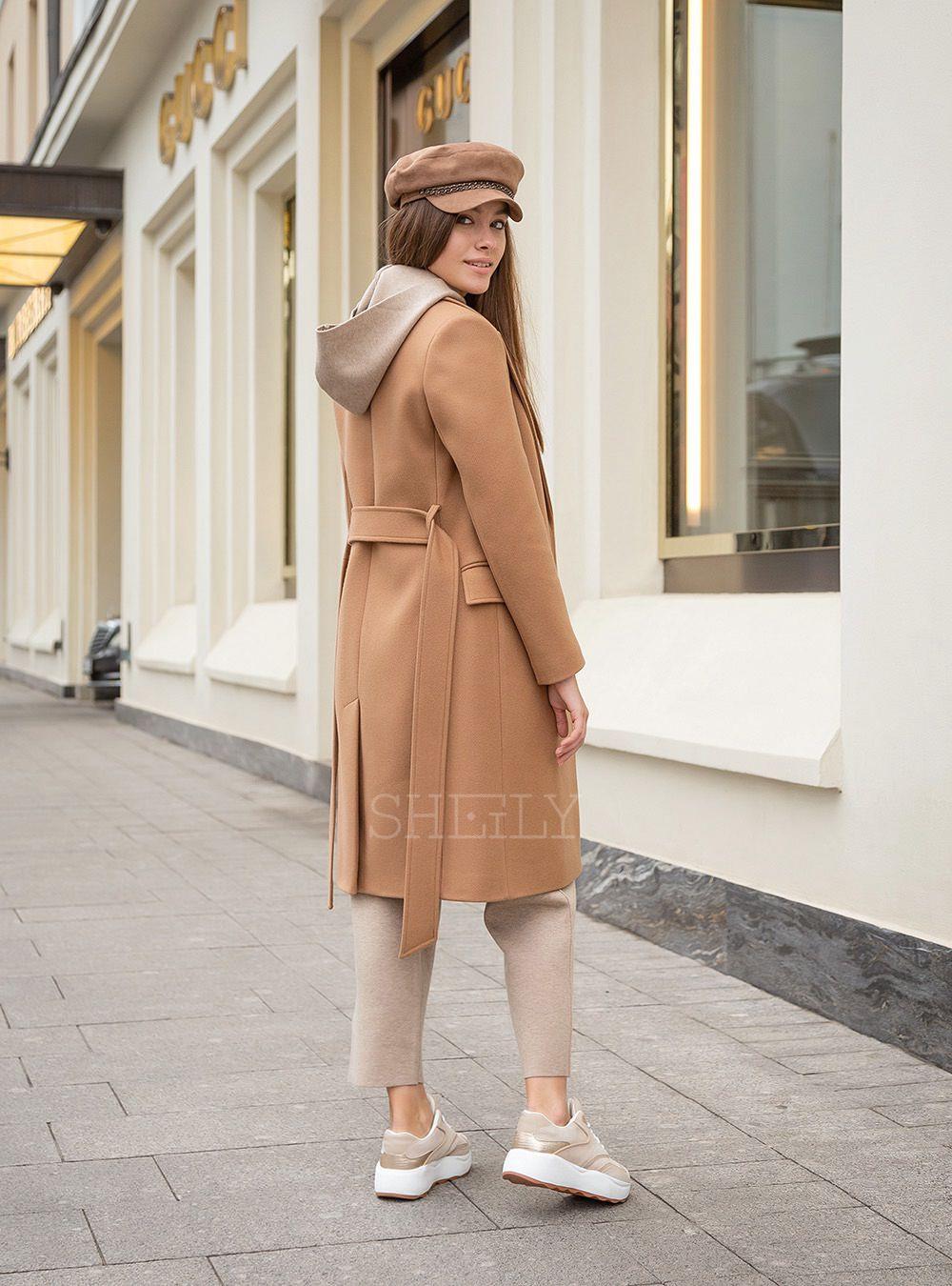 Английское укороченное пальто Кэмел