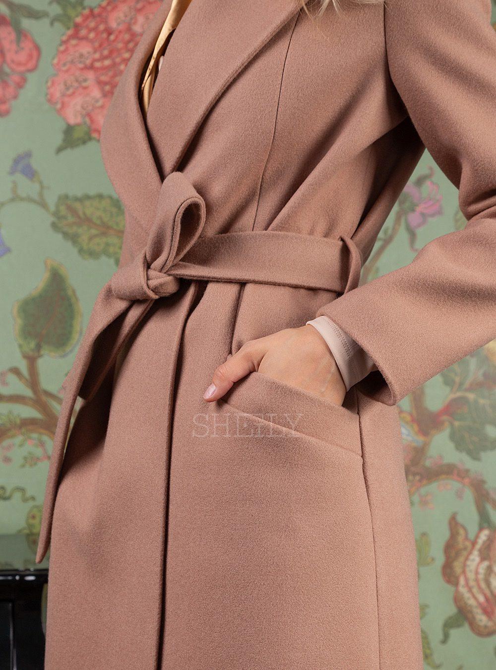 Пальто-халат темная пудра
