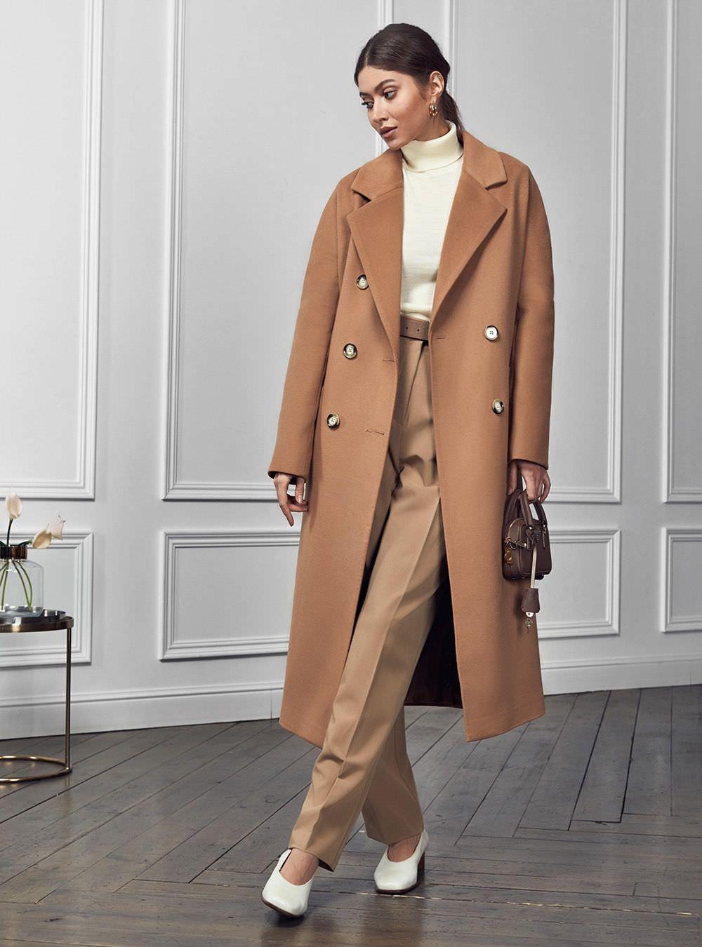 Пальто с цельнокройным рукавом Кэмел