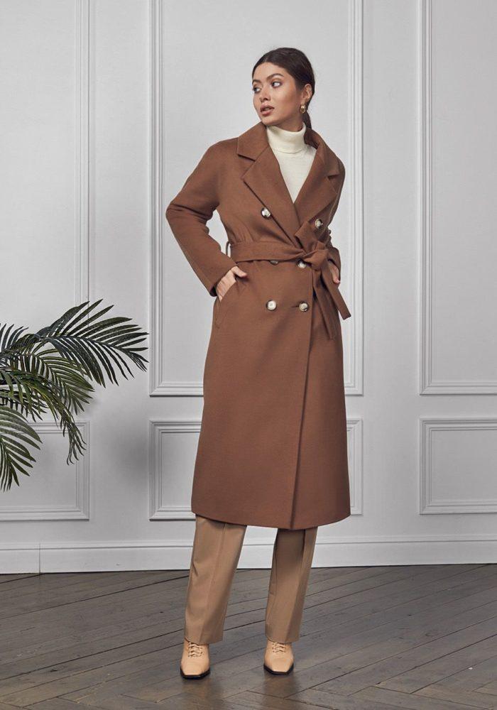 Пальто с цельнокройным рукавом Капучино