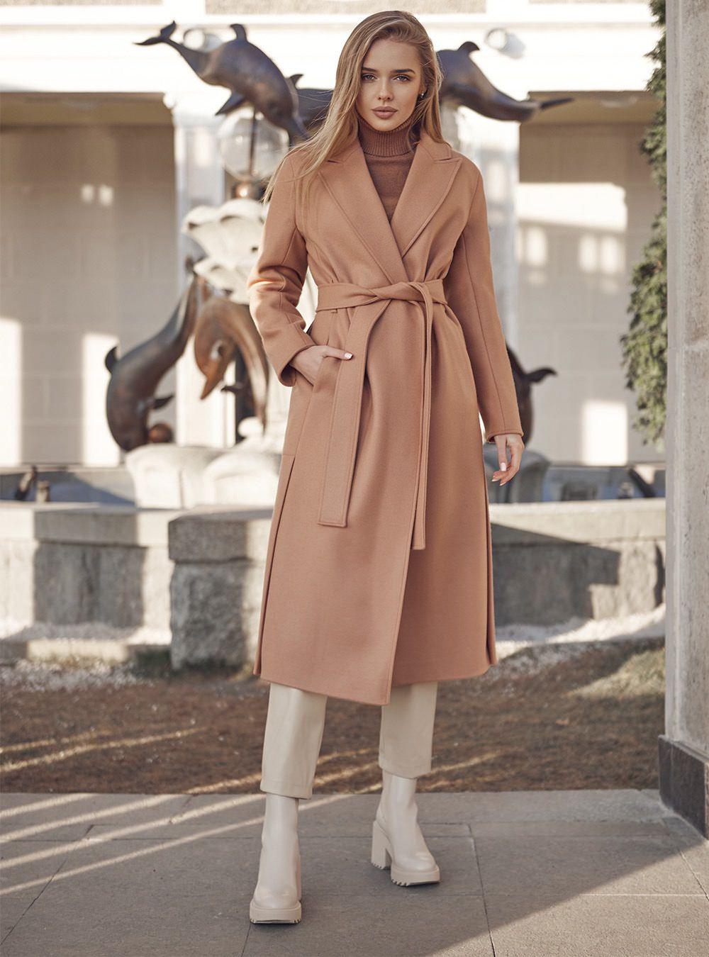 Удлиненное пальто с разрезами
